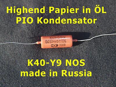 Gebraucht, K40Y-9 Kondensator PIO Paper in Oil 0,033 uF 200V gebraucht kaufen  Arnstein