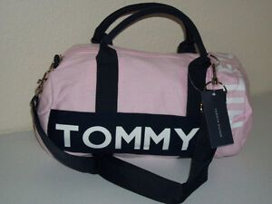 Women's Tommy Hilfiger pink canvas duffle bag purse New with tag London Ontario image 1