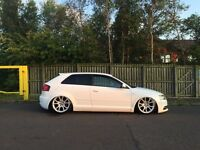 Audi A3 black edition ... (bagged, modified)