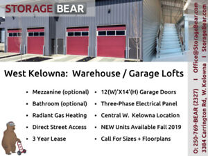 Warehouse/Garage Lofts For Rent
