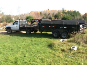 9 tone 14 foot dump trailer goose neck