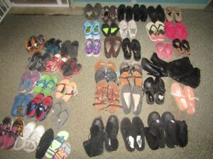 *Womens shoes lot size 7.5/8/9 some kids too*cash or trades