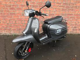 """Scomadi 125TL """"Carbon Effect"""" Own this scooter for only £14.16 a week"""