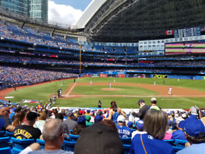 BLUE JAYS TICKETS!  SEATS WITH THE AMAZING VIEW YOU SEE HERE!!!