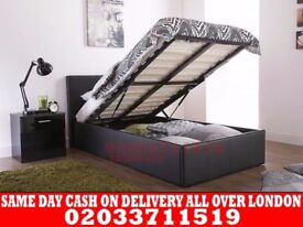 BRAND NEW SINGLE LEATHER STORAGE BED Available with Mattress San Francisco