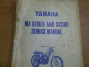 YAMAHA SC500 SERVICE MANUAL Cambridge Kitchener Area image 1