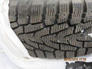 215/60R16 Nokian winter Tires on Steel Wheels