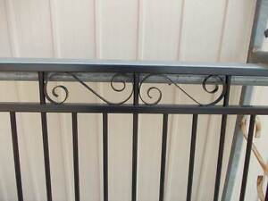 Classic Black Aluminium Single Access Gate with Scrollwork Hatton Vale Lockyer Valley Preview
