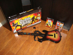 Guitar Hero - PS2 - Guitar Hero 1-2 - World Tour