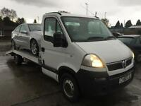 60 plate 2010 Vauxhall Movano 2.5 cdti LWB car transporter recovery truck