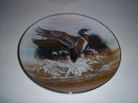 "Collector Plate of ""The Startled Woodduck"" by Barbara Blythe Win"