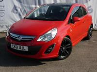2012 VAUXHALL CORSA 1.2 LIMITED EDITION 3 DOOR 17 INCH BLACK ALLOY WHEELS PRIVAC