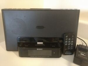Sony iPod dock, radio, alarm clock, Audio In player With Remote