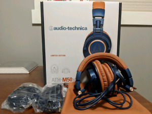 Audio Technica ATH-M50X Limited Edition Headphones W/Box, Cords