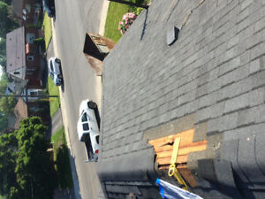Leaky roof , missing shingles New roof give us a call