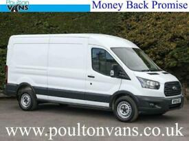 FORD TRANSIT 350 ECO BLUE FWD EURO 6 130PS 6 SPEED L3 H2 LWB MEDIUM ROOF P. VAN