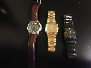 2 FOSSIL WATCHES AND 1 NIXON WATCH FOR SALE