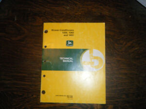 John Deere Mower Conditioners 1350, 1360,  1460 Technical Manual