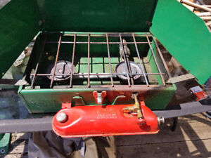 TWO USED - Coleman 2 Burner 'Naptha' Camping Stoves