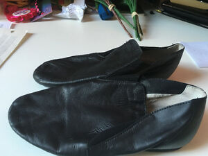 Jazz Shoes - Black Leather Women or Youth