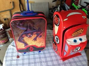 Spiderman & cars kids luggage