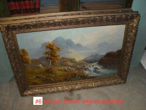 #greenspotantiques Antique oil paintings, mirror and figural clo