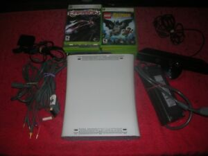 XBOX 360 Console, Kinect, Headset, Controller + Games - Working
