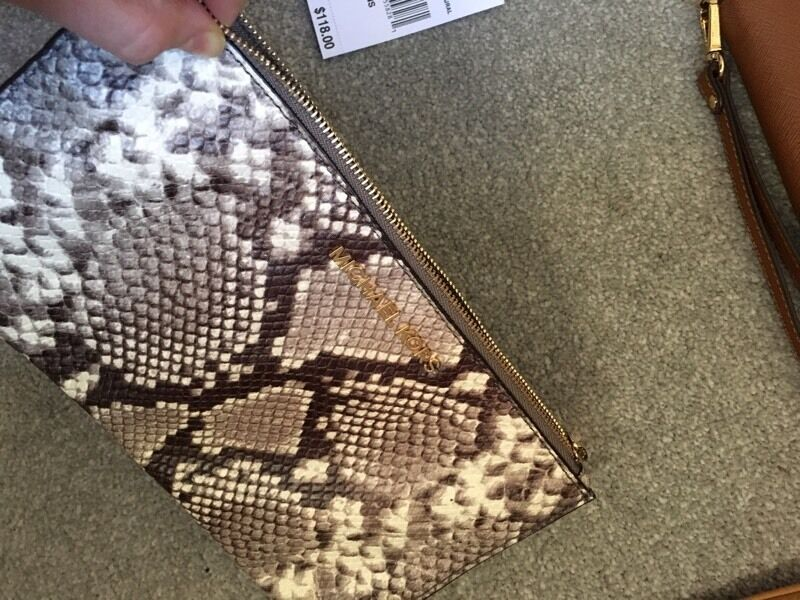 Genuine Michael Kors snakeskin evening clutch bag- brand new with tags