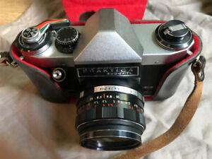 Praktica 35mm film camera with Lens and Flash unit