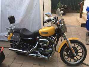 Harley Davidson sportster chrome yellow paint