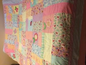 Quited blanket for either a single or Double Bed