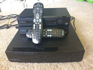 Shaw Arris gateway and 2 hd pvr portals with shaw remotes