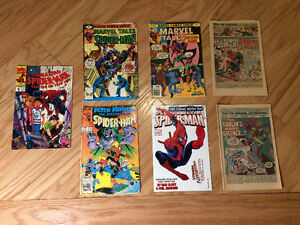 """""""Spider-Man"""" assorted Marvel titles - 1976 to 2007 - 7 for $10"""