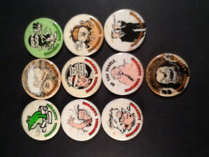 National Lampoon Magazine  1970's Button Collection ( 10 )