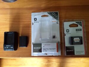 Sony NP-FW50 Batteries (2) and genuine Sony Charger.