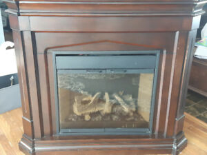 Electric Fireplace~dark cherry in color