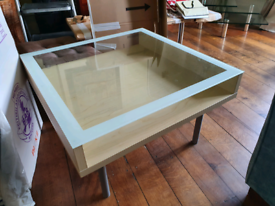 Glass top coffee table IKEA Magiker