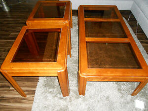 2 X END (LAMP) TABLES AND 1 COFFEE TABLE