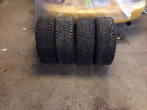 FOUR GRISLAVED WINTER TIRES - 195/55/R15 89T London Ontario image 3