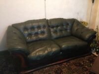 Free 3 + 2 seater leather sofas