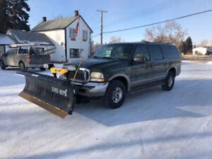 2002 Ford Excursion with Snoway Plow