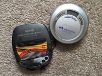 Sony and Sanyo CD Walkman