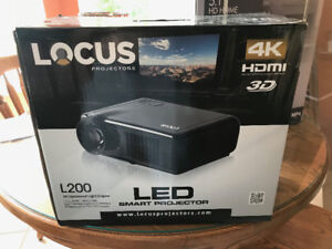 Locus Projector, Screen & Camron audio surround sound system
