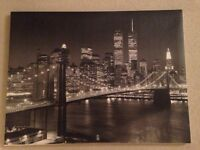 NYC New York City canvas pictures Brooklyn black and white