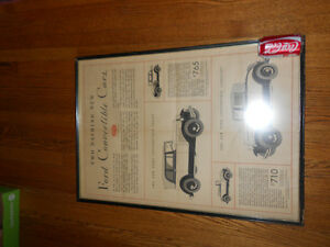 Antique Ford Convertible Advertisement Windsor Region Ontario image 4