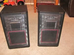 Vintage Realistic 3 Way Vented Speakers