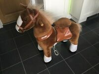 Pony Cycle Brown Ride on Horse Ideal Xmas present