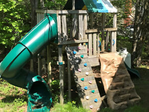 Play set with tube slide