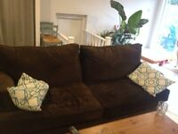 Brown fabrics couch