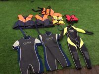 Wet suit buoyancy aid